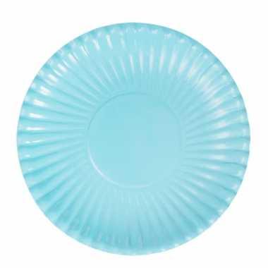 Feestartikelen borden lichtblauw 10 stuks- feestje!