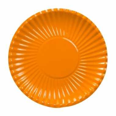 Feestartikelen borden oranje 10 stuks- feestje!