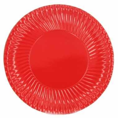 Feestartikelen borden rood 10 stuks- feestje!