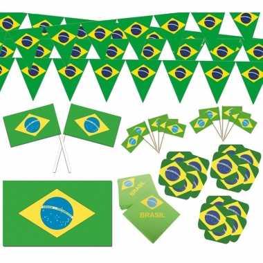 Feestartikelen brazilie thema versiering xl pakket feestje