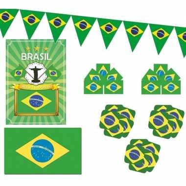Feestartikelen brazilie versiering pakket- feestje!