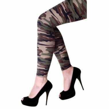 Feestartikelen camouflage print legging feestje 10077380