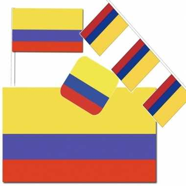 Feestartikelen colombia versiering pakket- feestje!