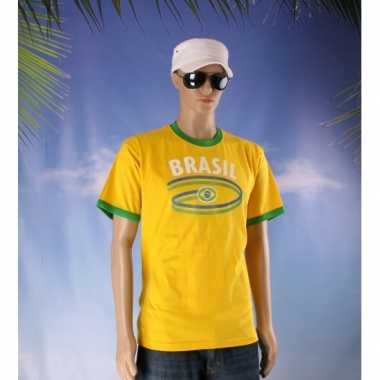 Feestartikelen geel brasil shirt feestje