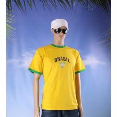 Feestartikelen geel voetbal brasil shirt feestje