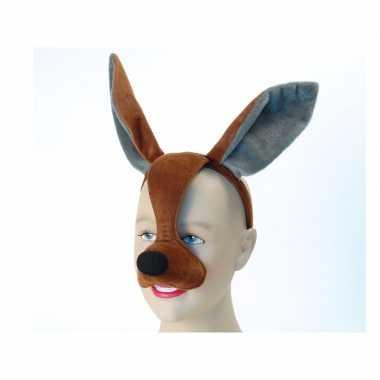 Feestartikelen kangoeroe masker met geluid feestje