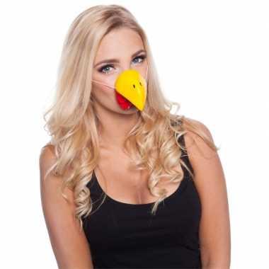 Feestartikelen kippen neus masker- feestje!