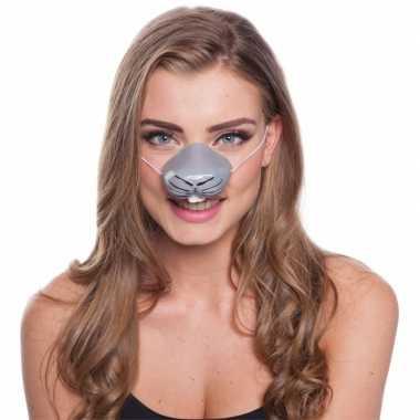 Feestartikelen konijnen neus masker feestje