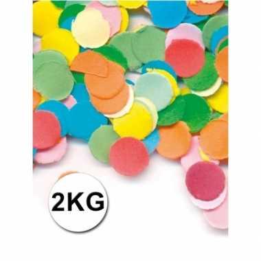 Feestartikelen luxe confetti 2 kilo multicolor- feestje!