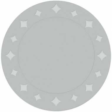 Feestartikelen placemats metallic zilver 6 stuks feestje