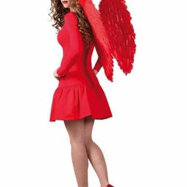 Feestartikelen rode engelen vleugels 65x65 cm feestje