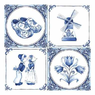 Feestartikelen servetten holland thema 20 stuks feestje