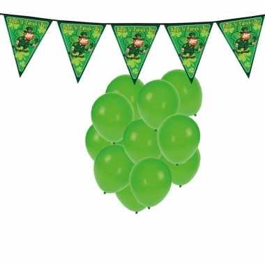 Feestartikelen st. patricks day incl. ballonnen en feestslinger- fees