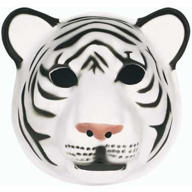 Feestartikelen tijger masker wit- feestje!