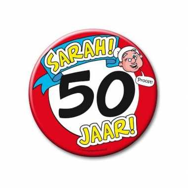 Feestartikelen xxl 50 jaar verjaardags sarah button- feestje!