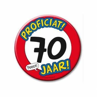 Feestartikelen xxl 70 jaar verjaardags button- feestje!
