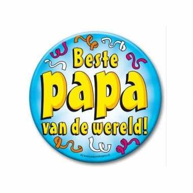 Feestartikelen xxl button beste papa feestje