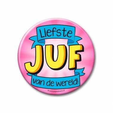 Feestartikelen xxl button liefste juf- feestje!