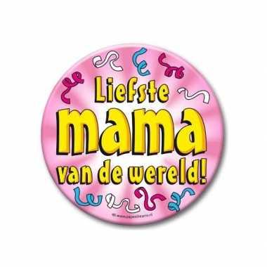 Feestartikelen xxl button liefste mama- feestje!