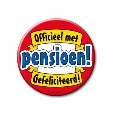 Feestartikelen xxl button pensionado- feestje!