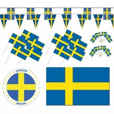 Feestartikelen zweden versiering pakket xl feestje