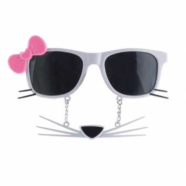 Feestbril snorbril poes/kat voor volwassenen- feestje!