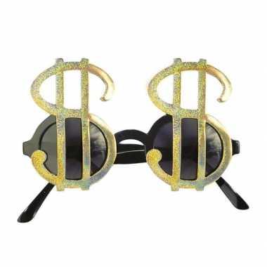 Feestbrillen dollar goud- feestje!