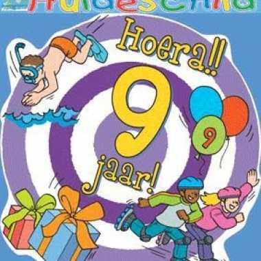 Feestelijk huldebord 9 jaar- feestje!