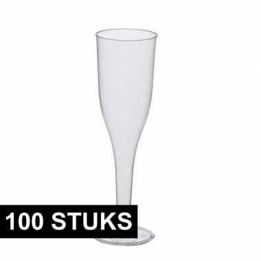 Feestelijke champagne glazen 100 stuks- feestje!