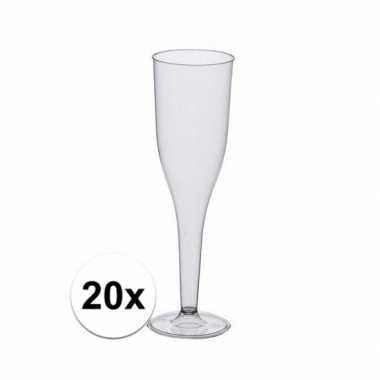 Feestelijke champagne glazen 20 stuks- feestje!