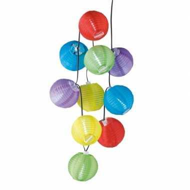Feestelijke gekleurde solar lampjes 240 cm- feestje!