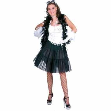 Feestelijke zwarte petticoat feestje