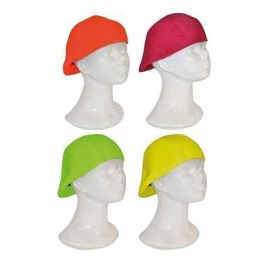 Feesthoed rapper in neon kleur- feestje!