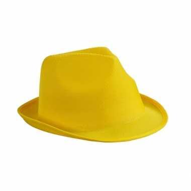 Feesthoedje geel thema- feestje!