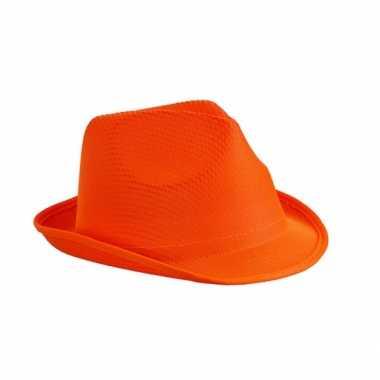 Feesthoedje oranje thema feestje