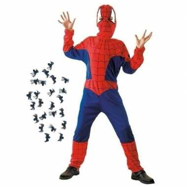 Feestkleding spinnenman met spinnen maat s voor kinderen- feestje!