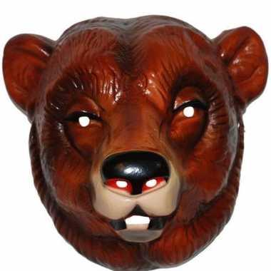Feestmasker beer bruin voor volwassenen- feestje!