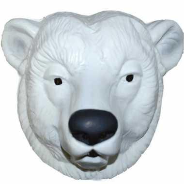 Feestmasker ijsbeer wit voor volwassenen- feestje!