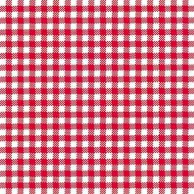 Feestservetten geruit rood/wit 3-laags 20 stuksfeestje!