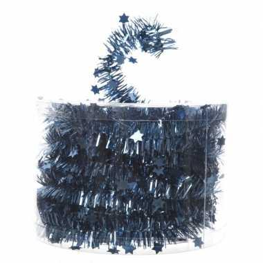 Feestslinger dun blauw sterren folie 7 x 270 cm- feestje!