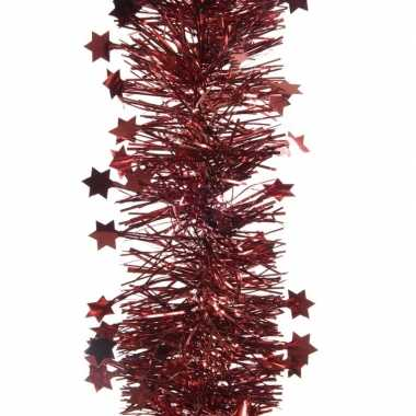 Feestslinger met sterren donkerrood 10 x 270 cm- feestje!