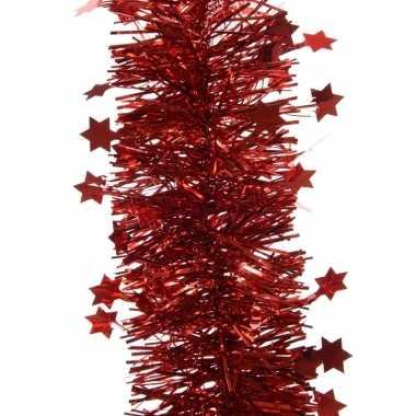 Feestslinger met sterren rood 10 x 270 cm- feestje!