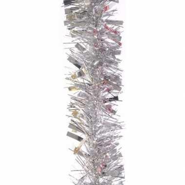 Feestslinger zilver folie 7.5 x 200 cm- feestje!