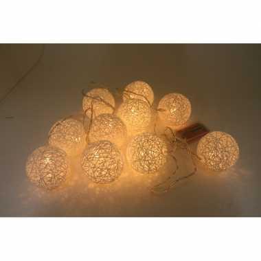 Feestverlichting cotton ball 10-delig 180 cmfeestje!