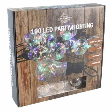 Feestverlichting timer lichtsnoer met 10 bolletjes 450 cm- feestje!