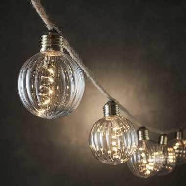 Feestverlichting touwverlichting met 10 bolletjes en 50 leds - feestje!