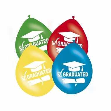 Feestversiering afgestudeerd ballonnen 8x- feestje!