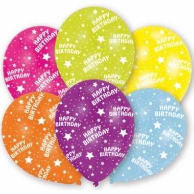 Feestversiering ballonnen 6 stuks- feestje!