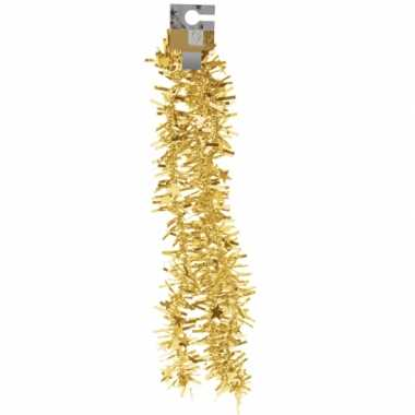 Feestversiering folieslinger goud met sterretjes 180 cm- feestje!