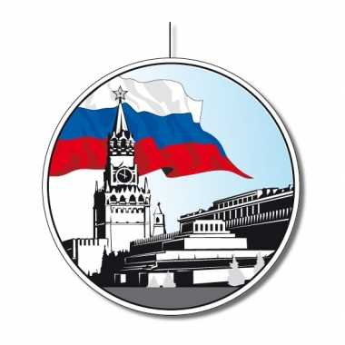 Feestversiering rusland rond 28 cm feestje